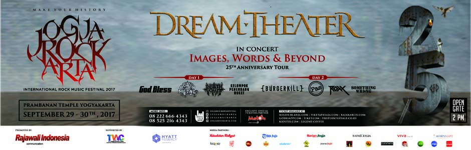 Change of venue for JogjaROCKarta, Dream Theater will perform on Prambanan Temple